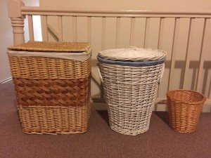wicker washing hamper,