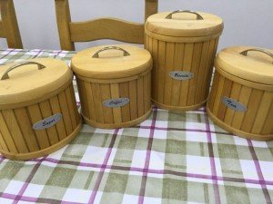 wooden kitchen canisters