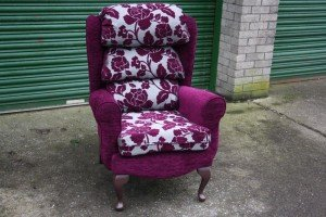 wingback club chair
