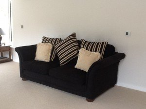 two seater high back sofa