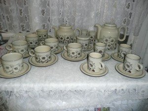 Hornsea pottery tea set