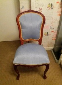 high back hall chair
