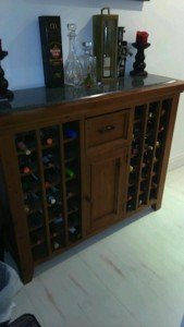 marble toped wine storing unit