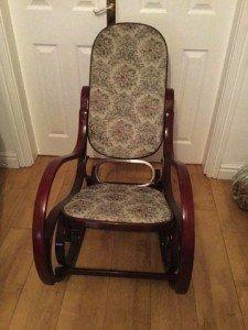 mahogany based rocking chair