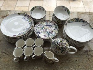 A Denby pottery 44 piece dining set decorated with the Monsoon cosmic pattern. & House Contents Clearance In Falkirk | Scotland House Clearance ...