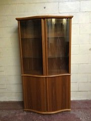 Danish teak display cabinet