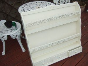 ornate shelving unit