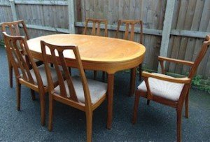 extendable vintage dining table