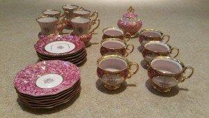 patterned tea set