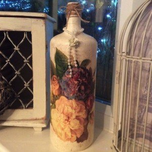 bottle shaped candle holder