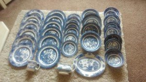 patterned dinner ware