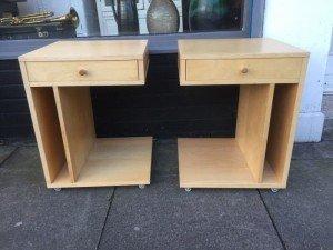 beechwood bedside tables