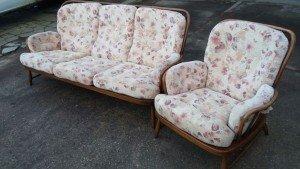 solid wood vintage sofa
