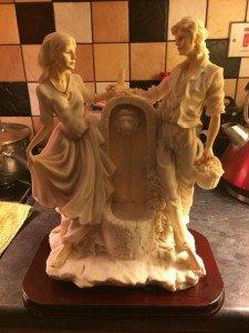 Large alabaster statue
