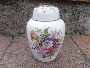 bone china ginger jar