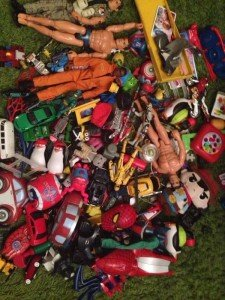 Collection of various boys toys