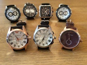 real leather watches