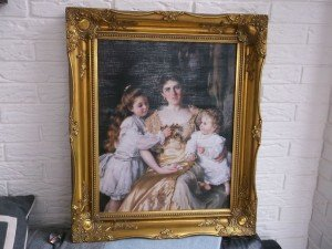 gold framed painting