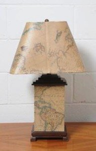 decorated table lamp