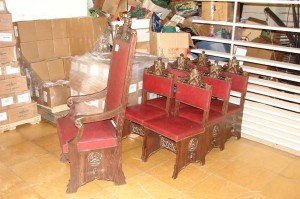 solid oak antique chairs