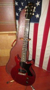 cherry red electric guitar