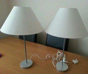 metal base table lamps