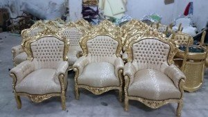 French Rococo style chairs