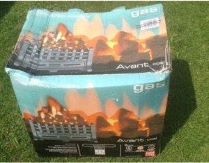 boxed Avent gas fire