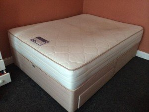 king size divan two drawer bed