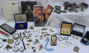 costume jewellery and coins