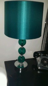 teal bubble lamp