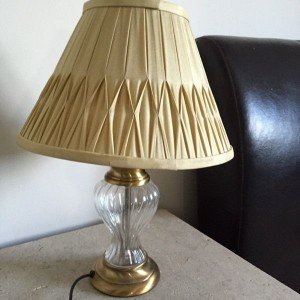 gold painted lamp
