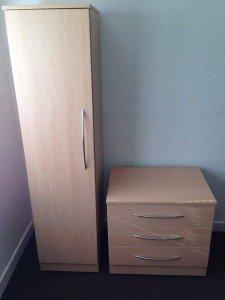 pine wood wardrobe
