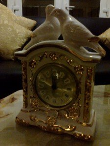 porcelain antique clock