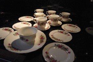 rose bouquet tea set