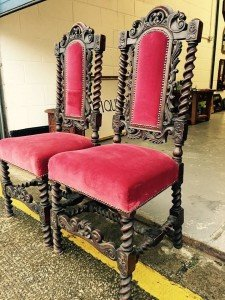 mahogany throne chairs