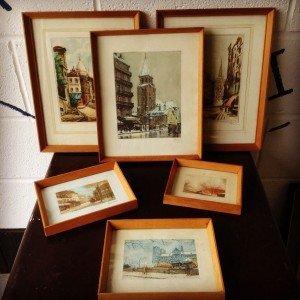 vintage Parsian themed prints