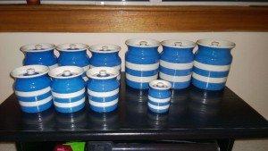 vintage Cornish ware jars