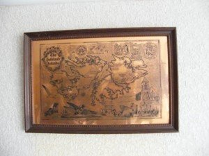 etched copper map