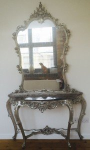 marble and gilt console table