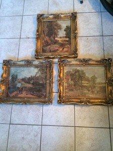 Rococo framed constable prints