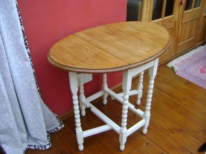 wooden base side table