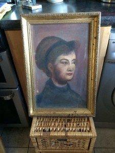 gilt framed canvas