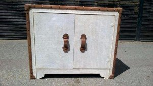 side cabinet with studded detail
