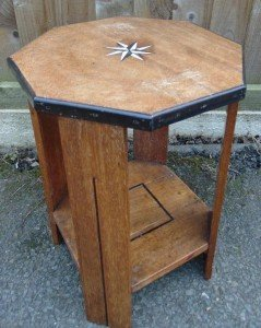 octagonal wine side table