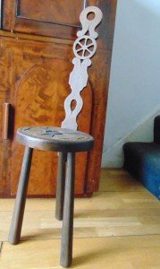 solid oak punishment chair