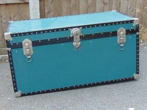 antique Edwardian travel trunk
