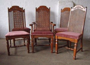 solid mahogany carved dining chairs