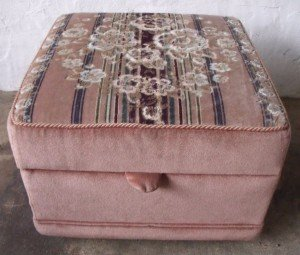 embroidered patterned footstool