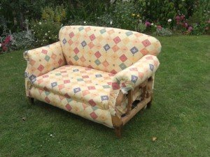 two seater vintage chaise